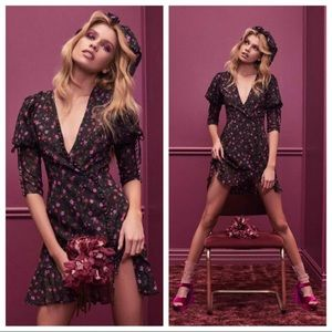 For love & lemons Rosie button floral ruffle dress
